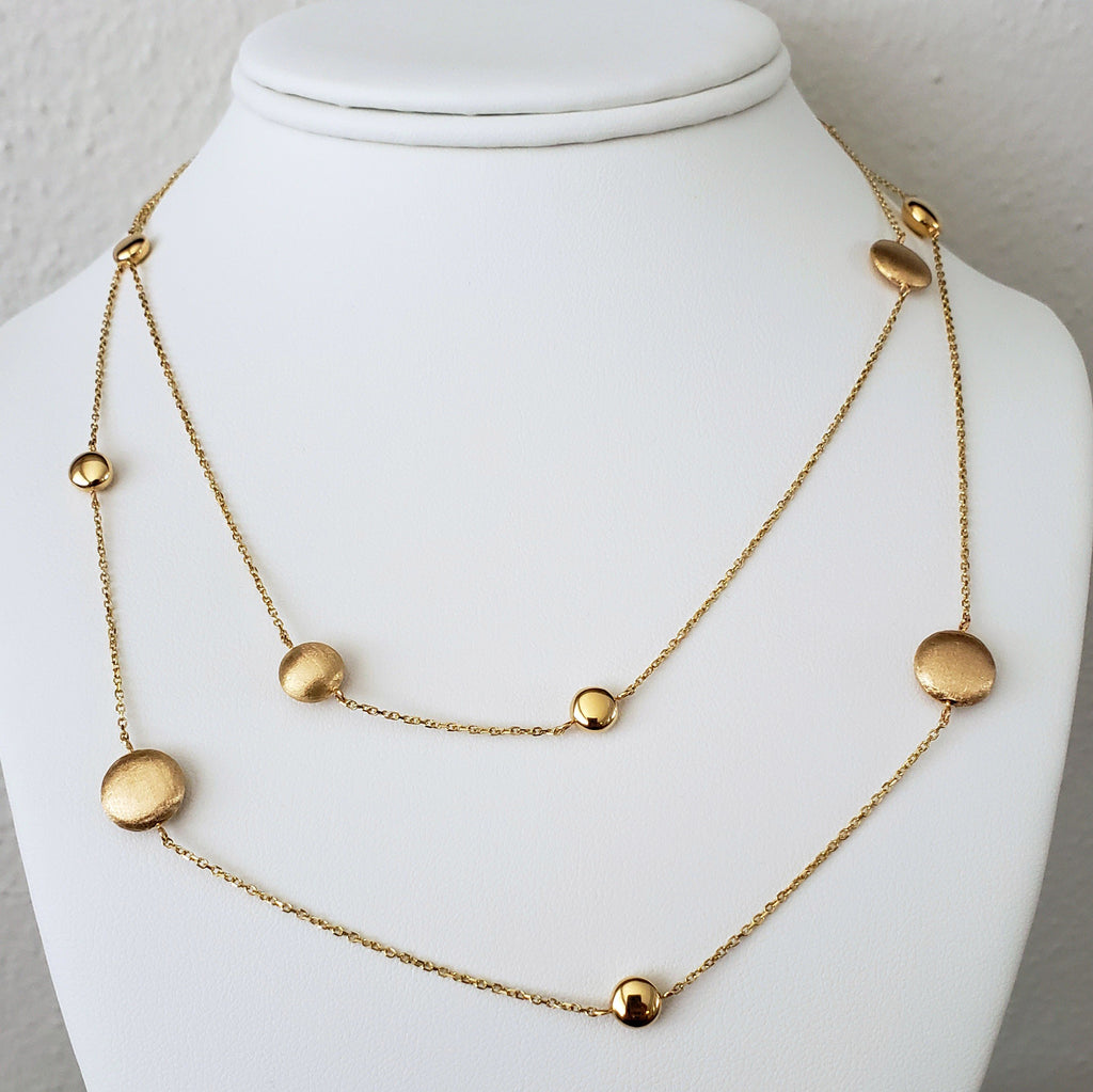 Gold Station Necklace