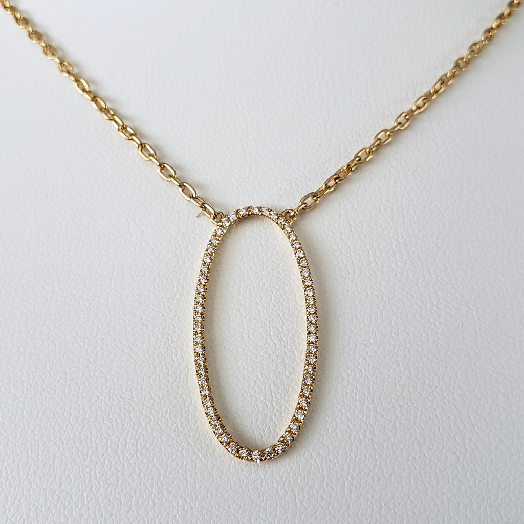 Diamond Ellipse Necklace
