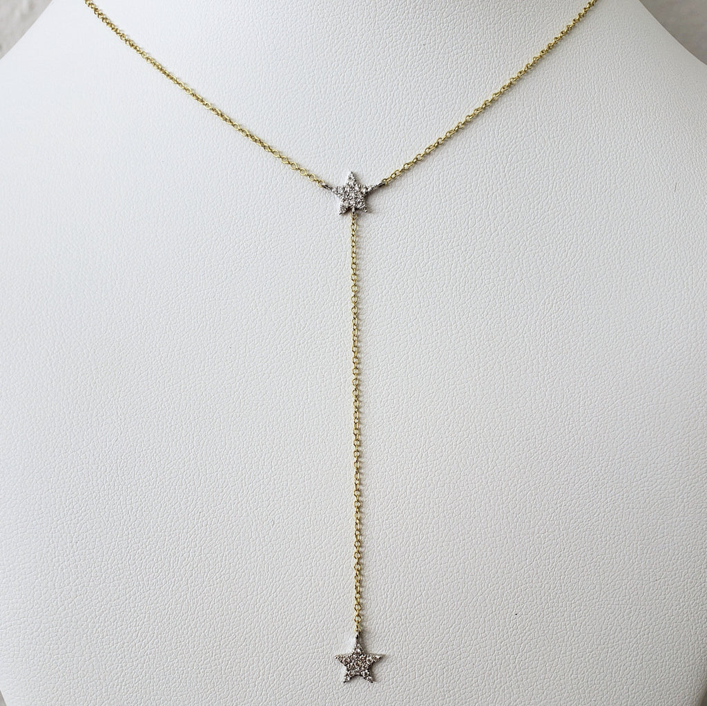Diamond Star Drop Necklace