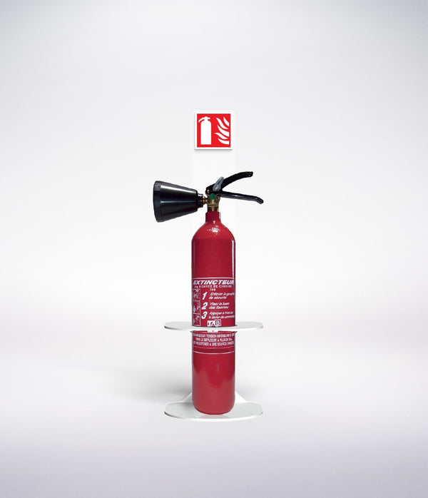 co2 fire extinguisher wall bracket