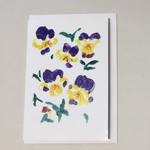 Heartsease Card - Ewe Zealand Made