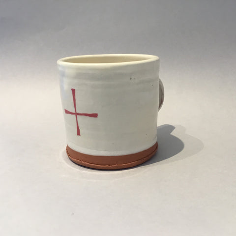 White Red Cross Mug