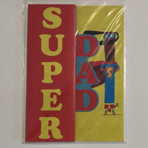 Superdad with dog trifold card