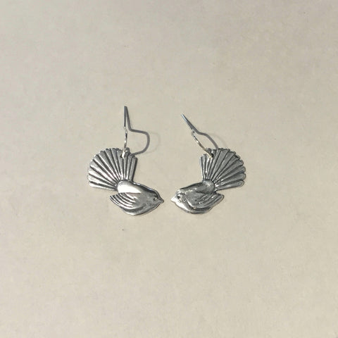 Silver Fantail Earrings