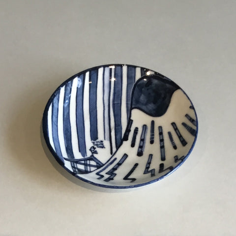 Aaron Scythe Small Plate (Blue & White)