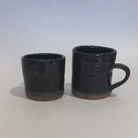 Espresso Mug !? (black/brown glaze)