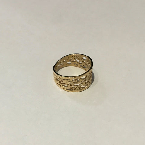 Lace Taper Ring (gold plated)