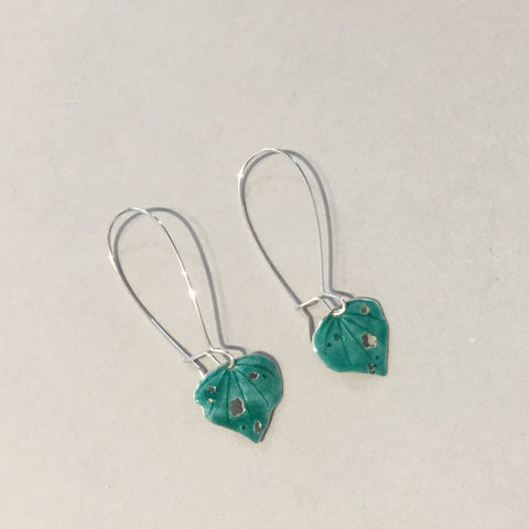 Enamelled Kawakawa Earrings ( EN9)