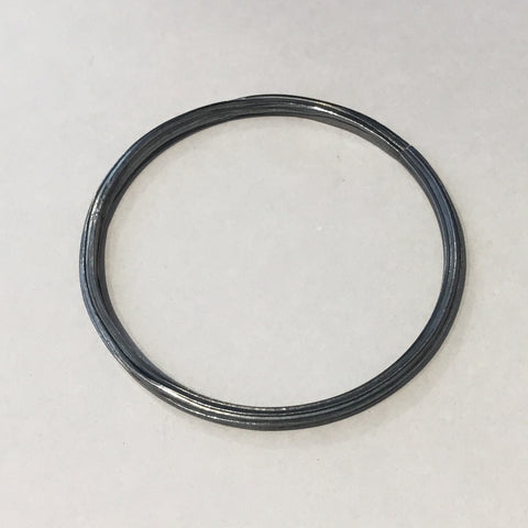 Fine Silver Extruded Bangle (oxidised)