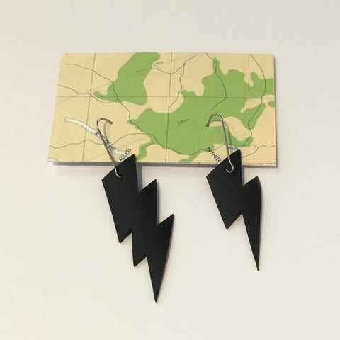 Bureau 55 #19 Lightening Bolt Earrings.