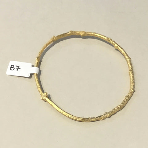 Gold Plated Branch Bangle
