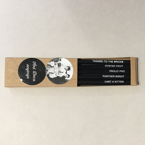 "5 Pack of ""Art Deco Sayings"" Pencils"