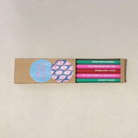 "5 Pack of ""Child of the 80's"" Pencils"
