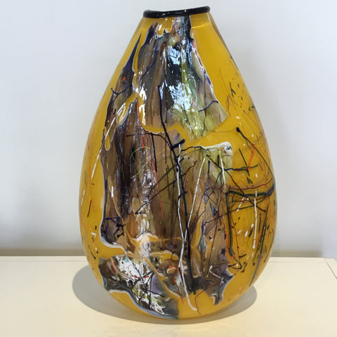Keith Grinter Large Oval Shard Vase (canary yellow)