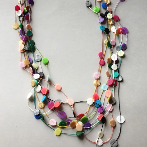 Merry Go Round Necklace (bright multi colours)