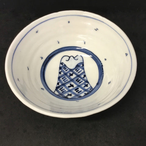 White & Blue Bowl (medium size)