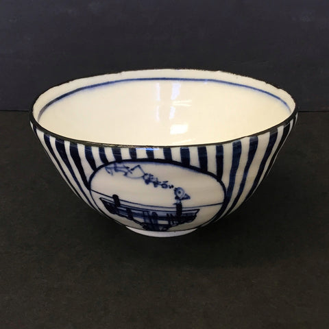 White & Blue Bowl