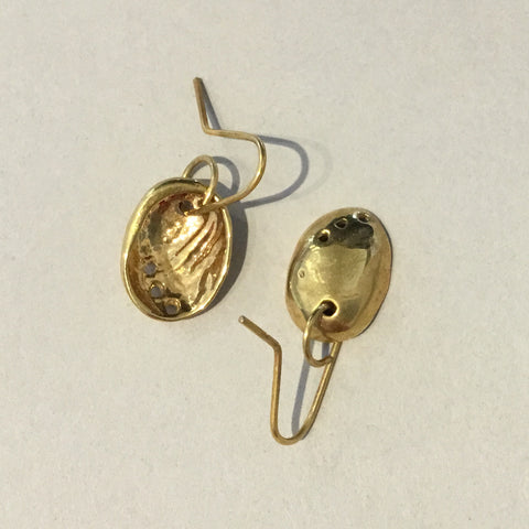 Baby Paua Gold Plated Small Earings