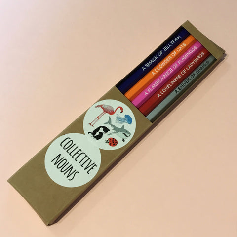 "5 Pack of ""Collective Nouns"" Pencils"