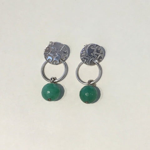 Aventurine Roll Printed Hoop Earrings