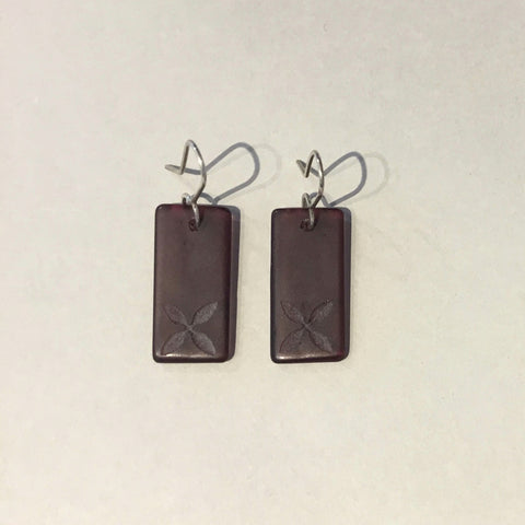 Drop Tapa Earrings (Purple)