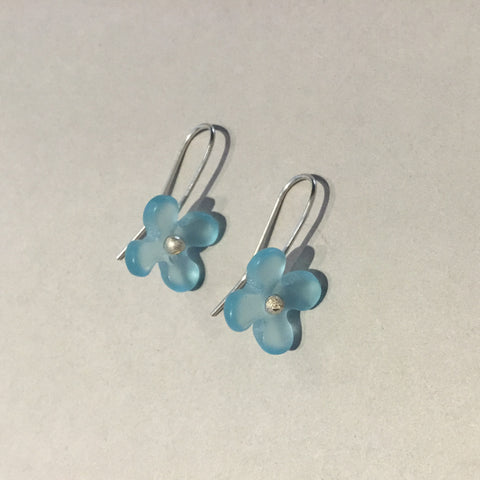 Hydrangea Flowers Earrings (pale blue)