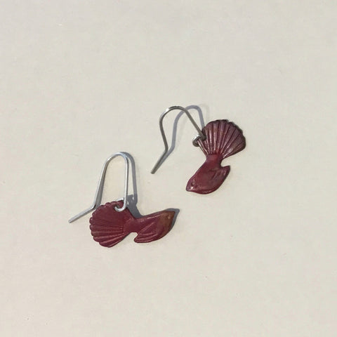 Copper fantail Earrings (small)