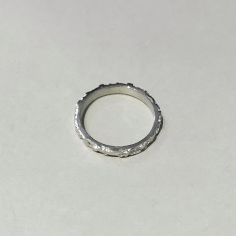 Lace Halo Band (small silver)