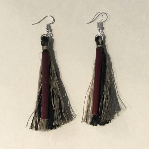 Muka Earrings - Black & Grey