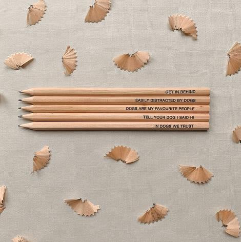 "5 Pack ""Dog Lovers"" pencils"