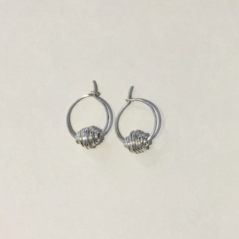 Sterling Silver Hive Earrings (hoops)