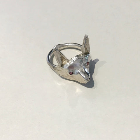 Fox Ring with Rubies