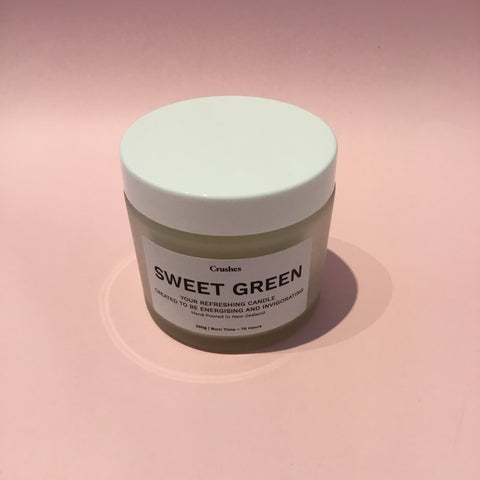 Crushes Sweet Green Candle 250g