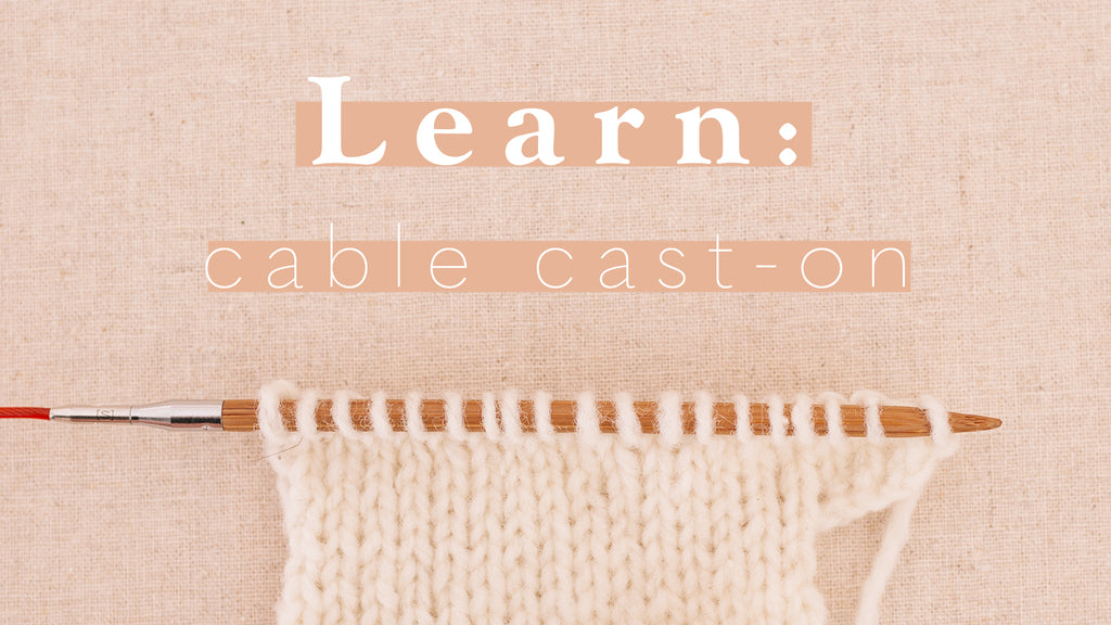 Tutorial: Cable cast-on