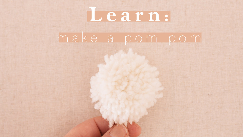 Tutorial: How to make a pom-pom