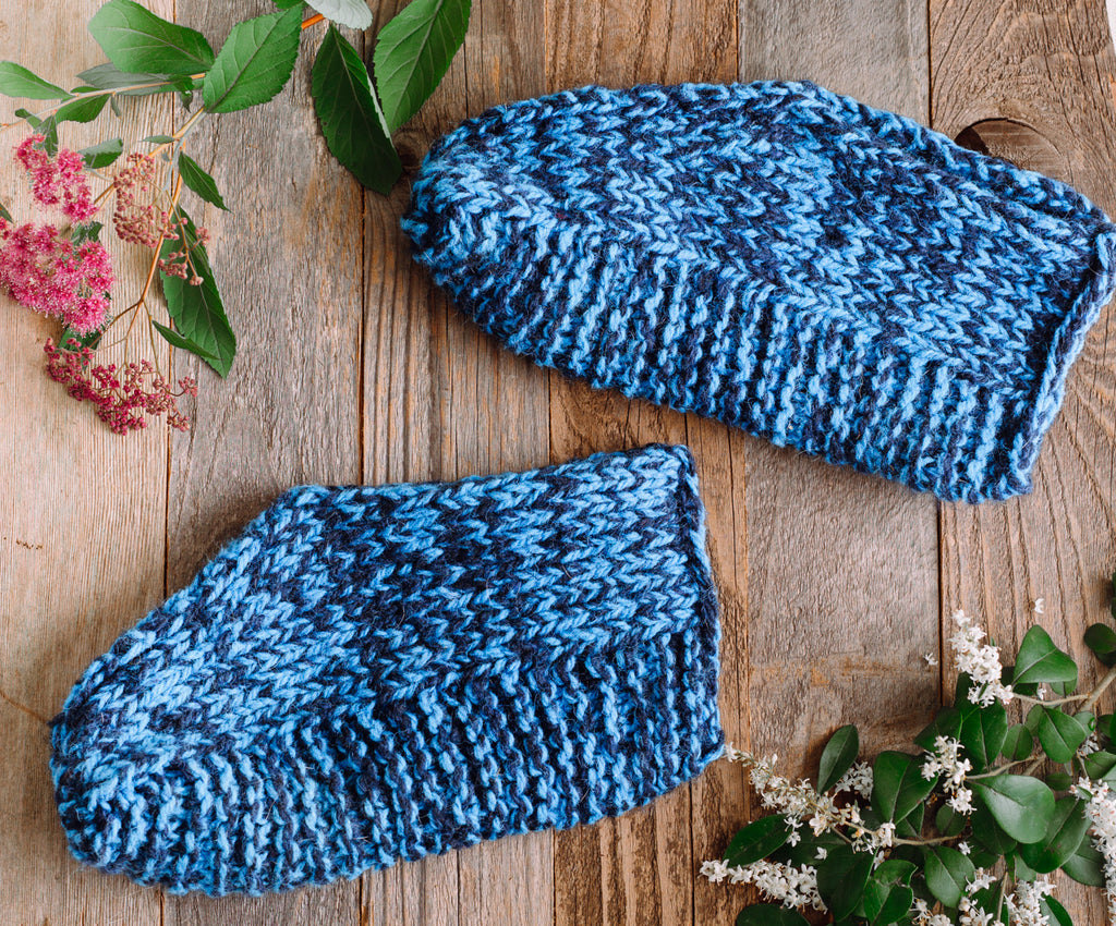 How to knit: Harrisville Slippers
