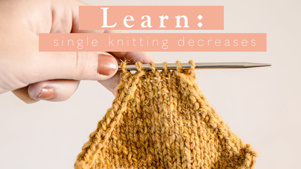 Tutorial: Single Knitting Decreases