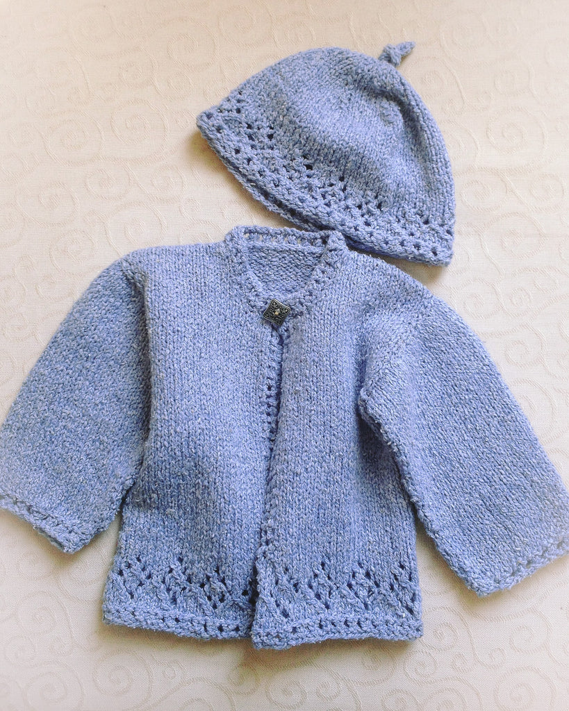 BABY HERON SWEATER & HAT