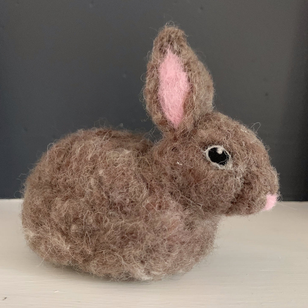 - ONLINE CLASS -<br>Needle Felted Bunny  with Jennifer McCarthy (5/9)