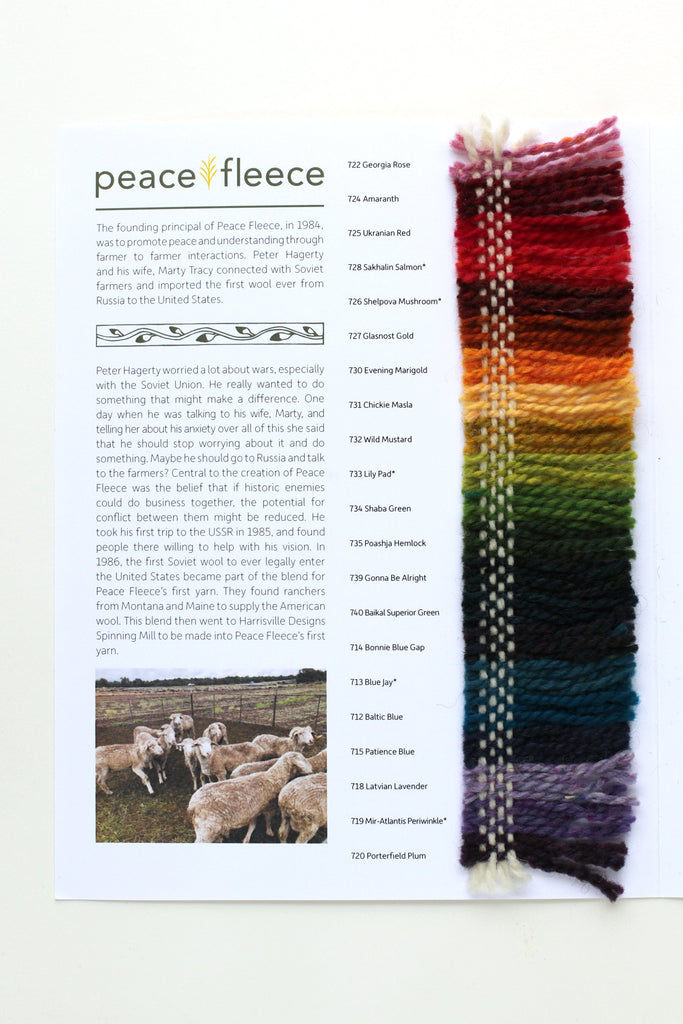 Color Card (Peace Fleece)