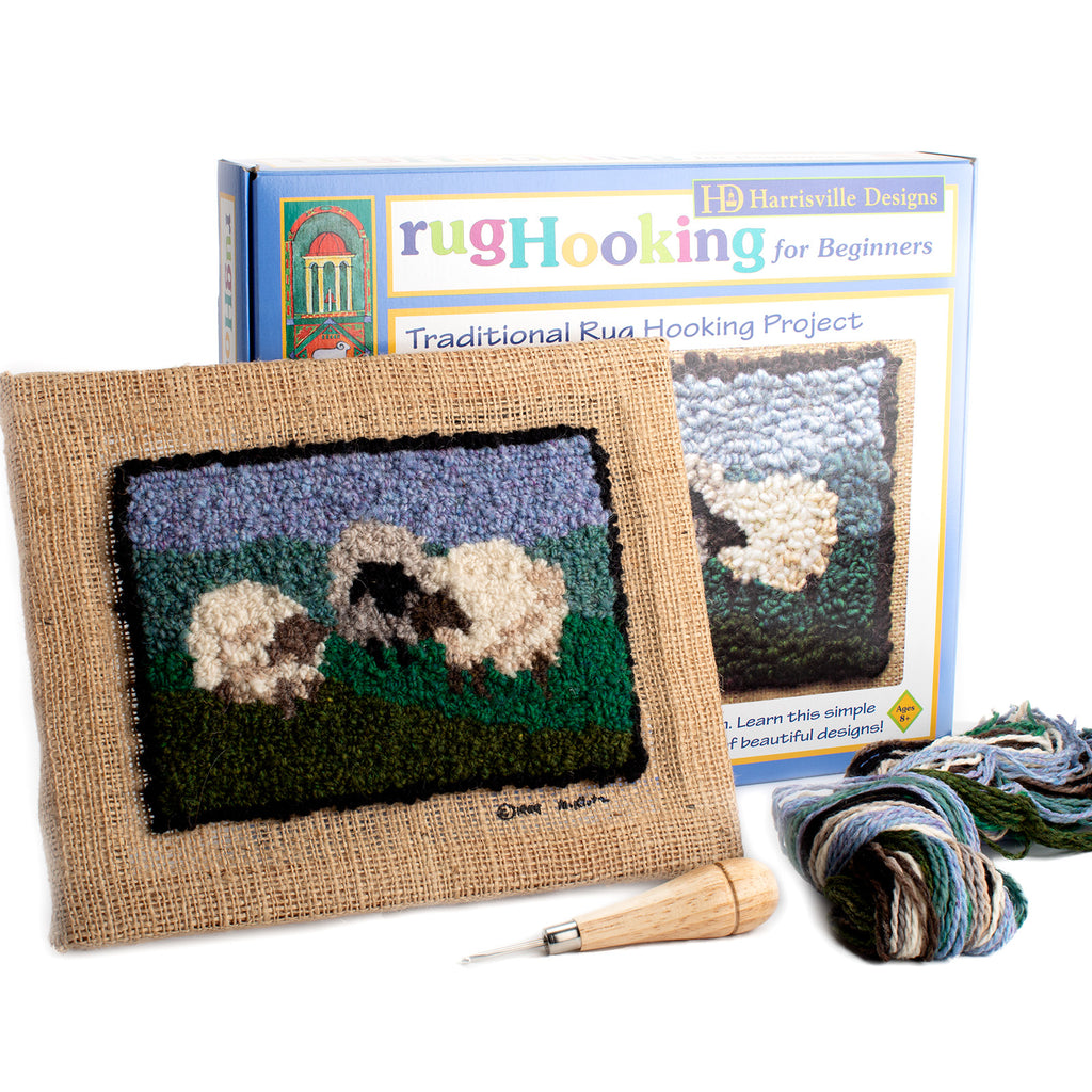 Sheep Traditional Rug Hooking  Kit