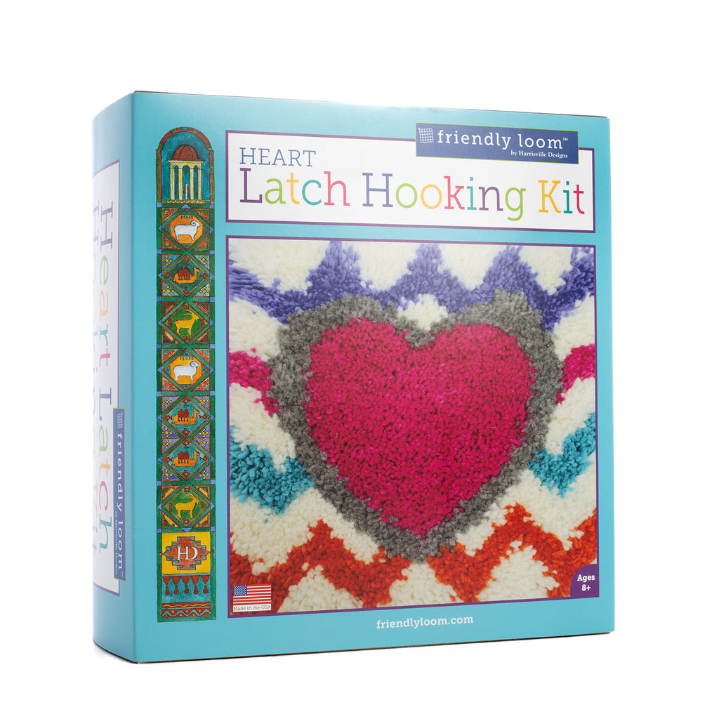Heart Latch Hooking Kit