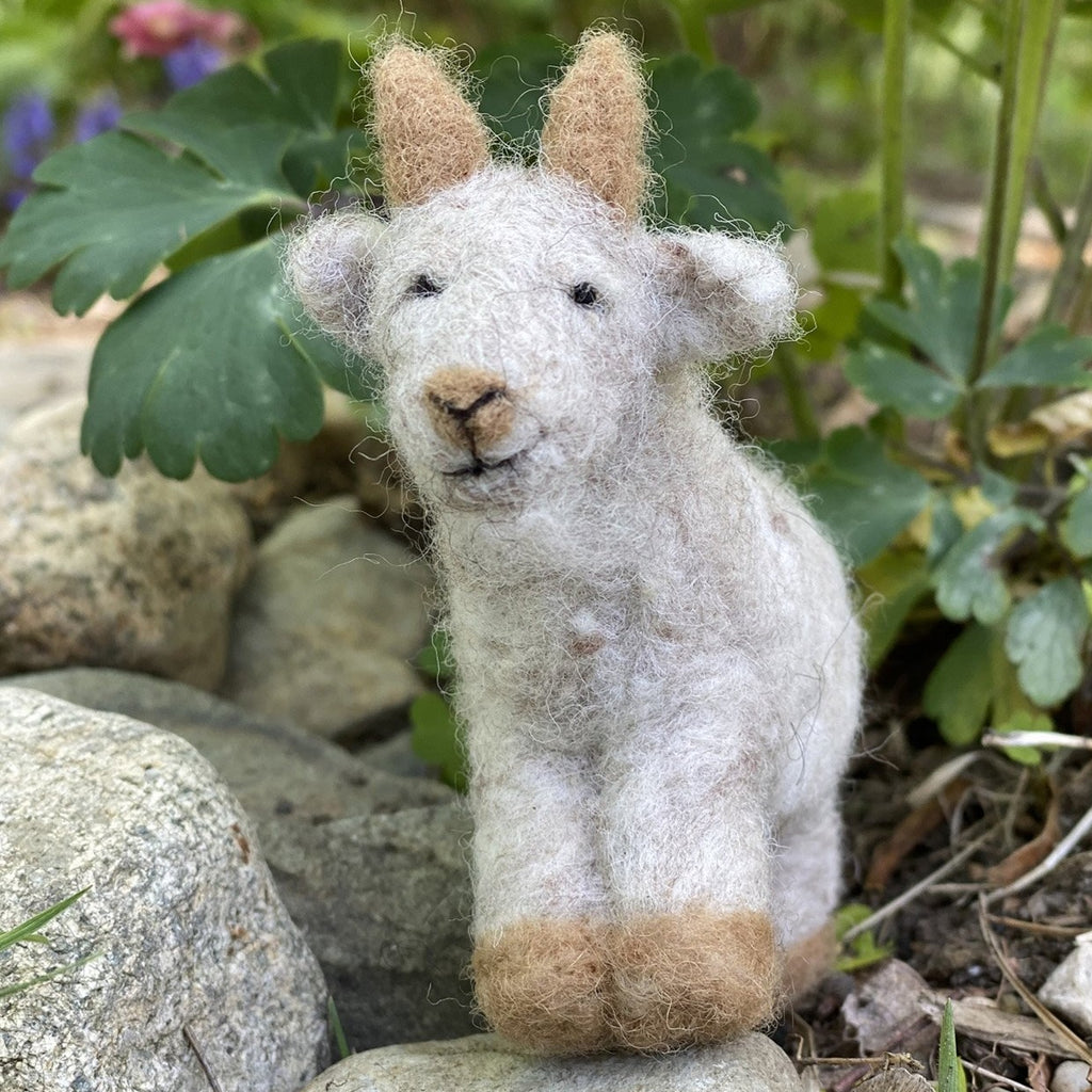 - ONLINE CLASS -<br>Needle Felted GOAT with Jennifer McCarthy (8/8)