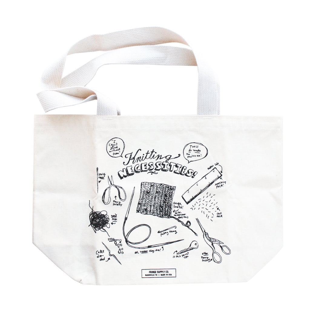 Fringe Supply - Knitting Necessities Tote