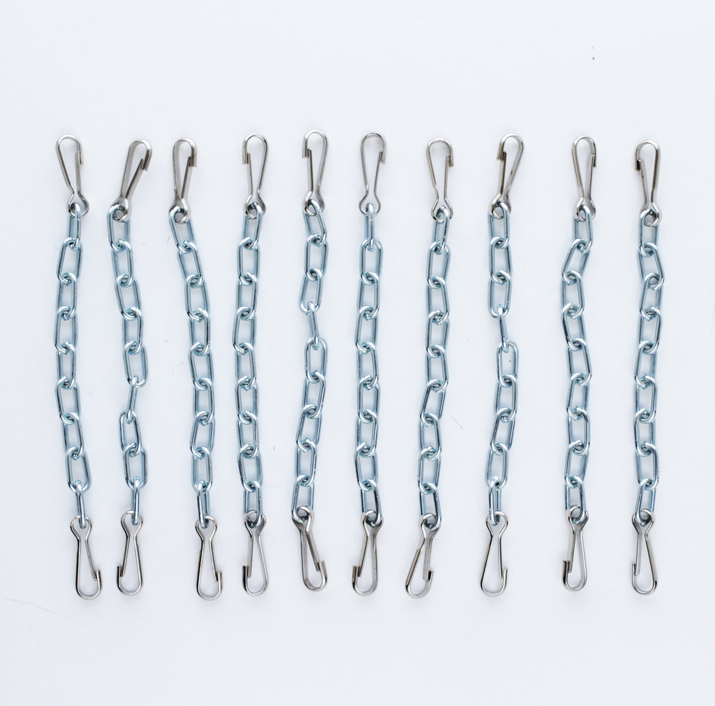 "Treadle Tie-Up Chains 6 1/2"" with hooks"