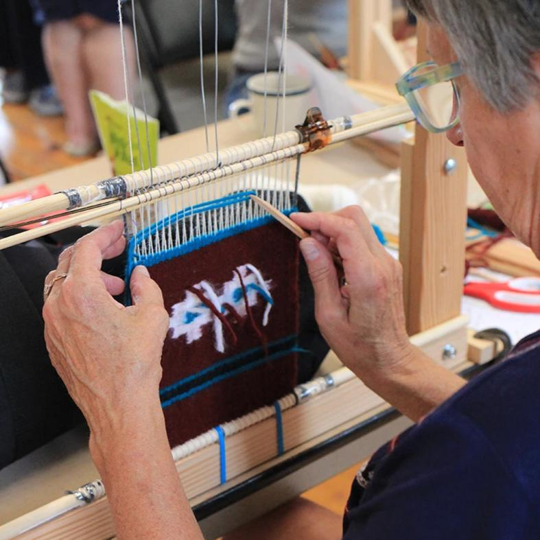 Navajo Warping with Barbara Teller Ornelas and Lynda Teller Pete (9/28)