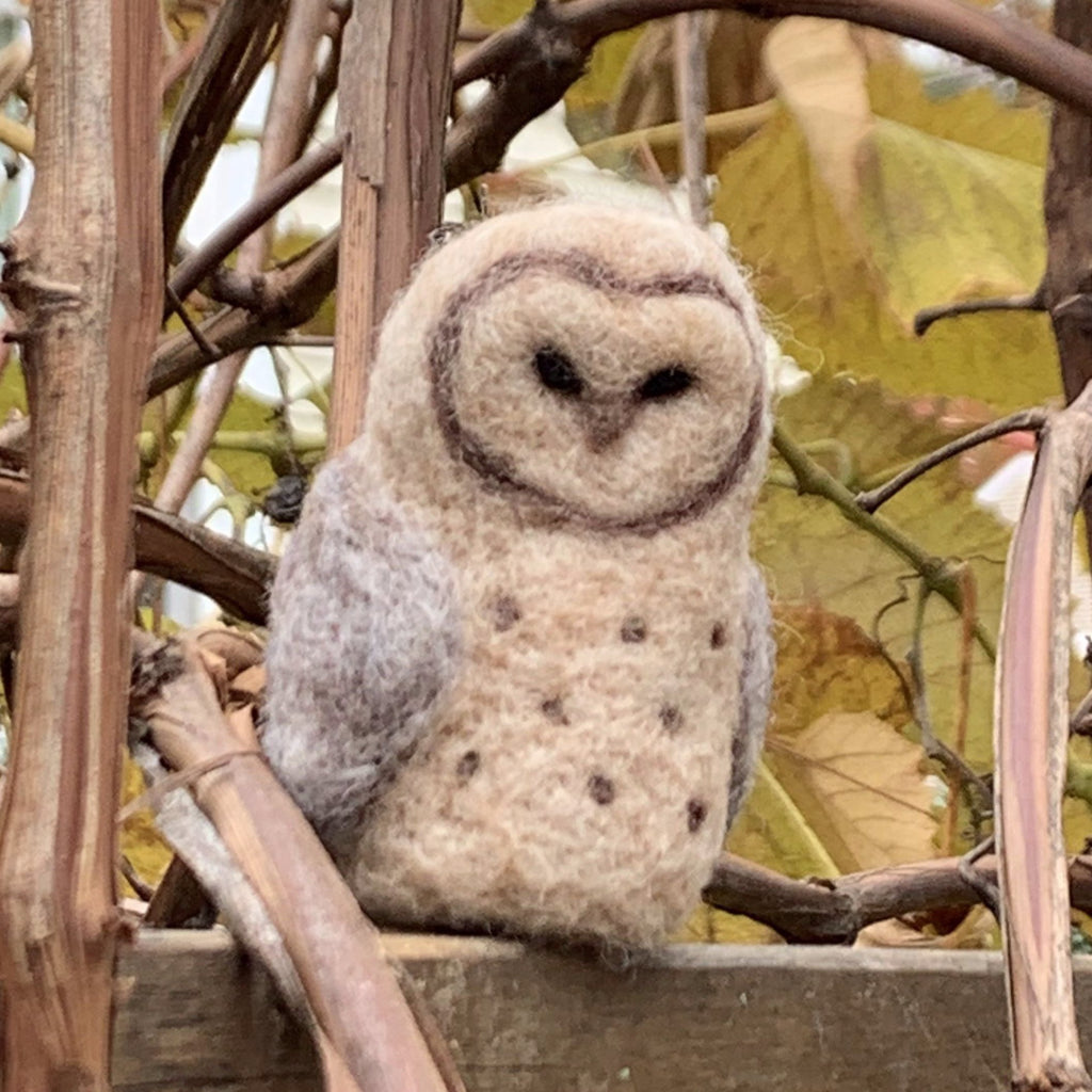 - ONLINE CLASS -<br>Needle Felted OWL with Jennifer McCarthy (5/23)