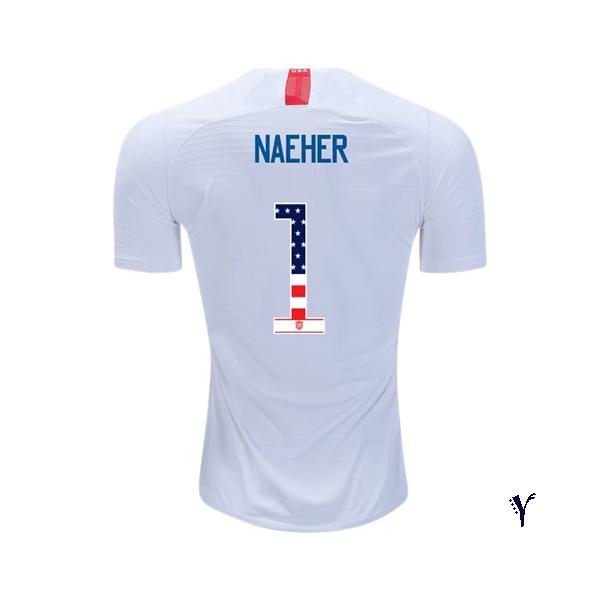 2018/2019 Youth Alyssa Naeher Jersey Home USA Independence Day - XXS