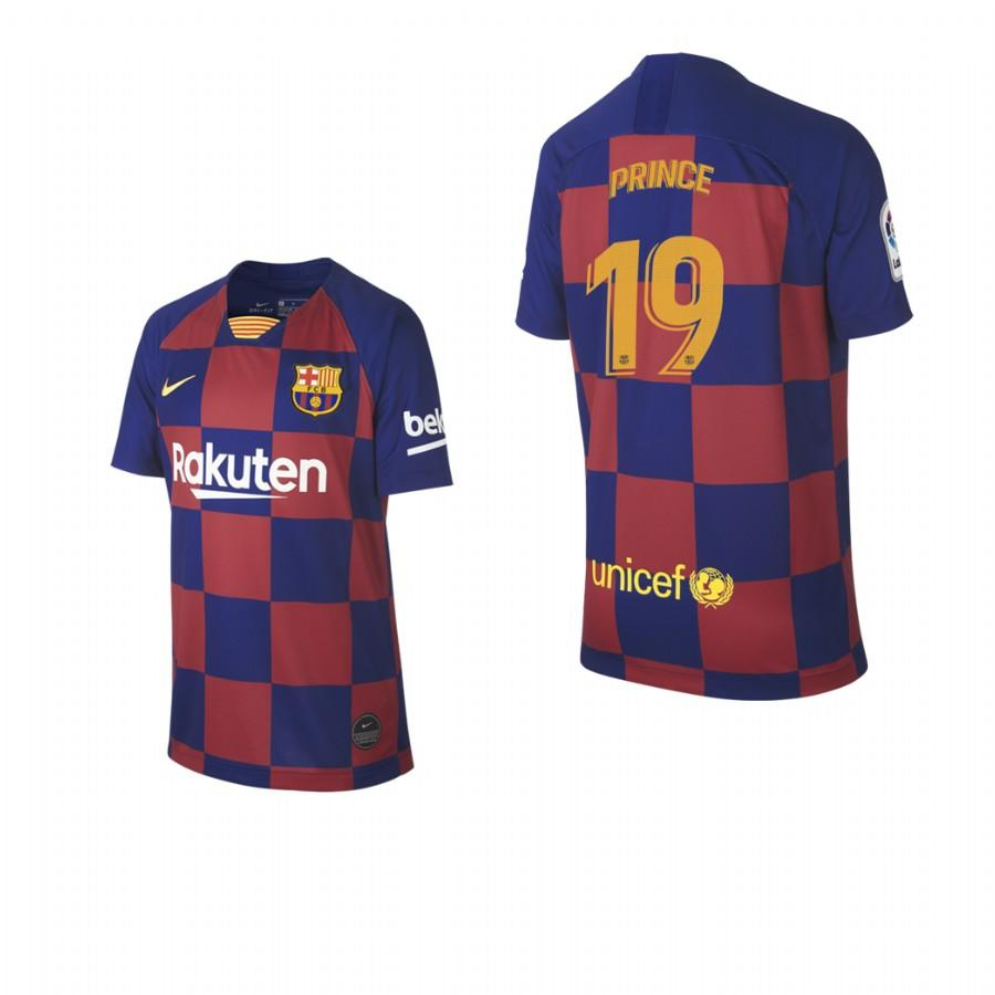 2019/20 Kevin-Prince Boateng no. 19 Barcelona Youth Checkered New Home Jersey/Shirt - S - Jersey