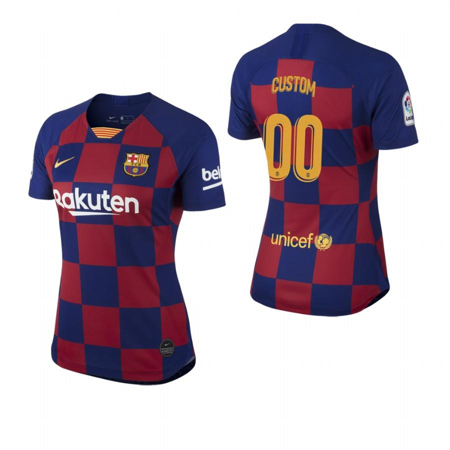 2019/20 Womens Barcelona Custom Name & Number Checkered New Home Jersey/Shirt - S - Jersey